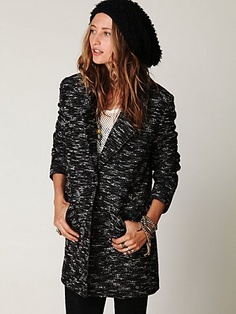 Found this oversized men's boucle jacket for $50! Unfortunately it will take 5-8 business days to arrive at my door
