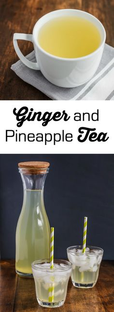 Quench your thirst with ginger pineapple tea, it's is great hot or cold.