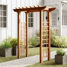 The pergola you choose will probably set the tone for your outdoor living space, so you will want to choose a pergola that matches your personal style as closely as possible. The style and design of your PerGola are based on personal Arbor Bench, Wood Arbor, Wood Pergola, Pergola Kits, Pergola Ideas, Modern Pergola, Arbor Ideas, Aluminum Pergola, Vinyl Pergola