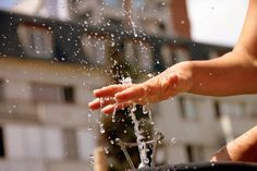 Water drops through the fingers of a girls, Water fountain, Summer Heat Water Droplets, Summer Heat, Public Domain, Fingers, Fountain, Glass, Photos, Women, Pictures