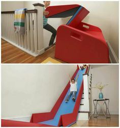Removable stair slide!