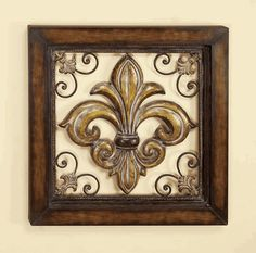Fleur De Lis Wall Decor fleur de lis mariana metal wall sculpture | decor | pinterest