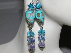 Day of the Dead Earrings Art Jewelry Frida Kahlo by MelancholyMind, $9.99