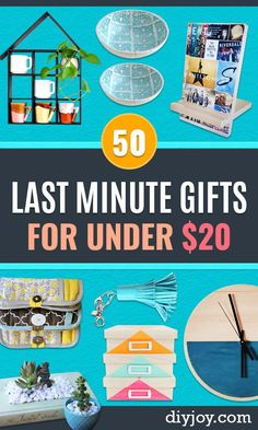 Cheap Last Minute Gifts DIY - Inexpensive DIY Gift Ideas To Make On A Budget - Homemade Christmas and Birthday Presents For Mom, Dad, Kids, Friends-Creative Crafts, Home Decor and Quick Gifts From Dollar Tree Diy Gifts Cheap, Diy Gifts To Make, Diy Gifts For Kids, Crafts To Make And Sell, Gifts For Teens, Easy Gifts, Gifts For Family, Sell Diy, Kids Diy