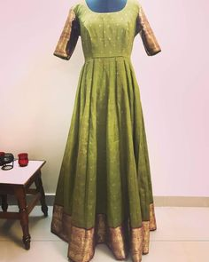Convert Old Saree Into Long Gown Dress Diy Youtube Chudi And