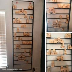 Wall Decor Ladder Made With Wooden Building Blocks Diy Home Decor, Diy Furniture Hacks, Repurposed Furniture, Furniture Hacks, Creative Decor, Decorating Blogs, Home Decor, Ladder Decor, Cool Diy