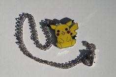 Pokemon Pikachu Sitting Necklace on Etsy, $5.10