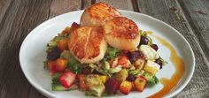 Scallops and Apple Gastrique | Chef'd