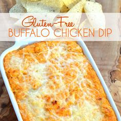 This is THE BEST Buffalo Chicken Dip ever. My secret is the roasted chicken meat. Don't mess around with the canned stuff. Get the recipe now!