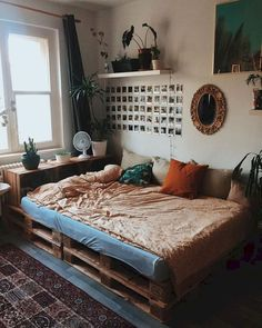 33 Awesome College Bedroom Decor Ideas and Remodel - 33 Bedroom Design Ideas - College Bedroom Decor, Dorm Room, College Bedrooms, Aesthetic Room Decor, Cozy Aesthetic, Summer Aesthetic, Aesthetic Grunge, Dream Rooms, New Room