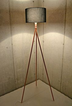 Handmade Copper Tripod Standing Lamp Base by AtDCustomCopperLamps