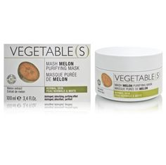 VEGETABLE(S) - MASH MELON PURIFYING MASK 3.4oz by VEGETABLE(S) SKIN CARE. $25.05. No parabens, no perfume, no phenoxyethanol. Astringent, detoxifying, purifying effect.. Purify your skin. Melon extract helps detoxify the skin. The formula also includes lettuce extract, which has antioxidant, astringent, and softening qualities. Leaves your skin smooth and silky.
