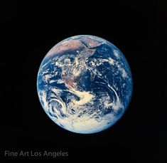 """Early NASA photo, """"The Blue Marble"""" Earth, African Continent Earth View From Space, Planet Earth From Space, Nasa Photos, Nasa Images, Earth Photos, Earth Pictures From Space, Photo Of Earth, New Fine Arts, Space Photos"""