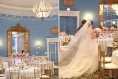 AMBphoto. Chateau Laurier Adam room. Gold, blue, pale pink and white.