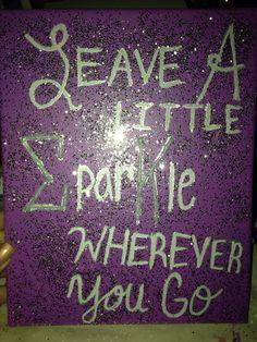 Sigma Kappa Sparkle canvas :)