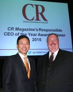 Corporate Responsibility Magazine Names LG USA CEO William Cho as 2015 Responsible CEO of the Year
