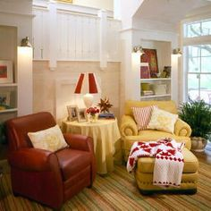 Moser Design Cottage of The Year Sitting Room  (Southern Living House Plan 593)