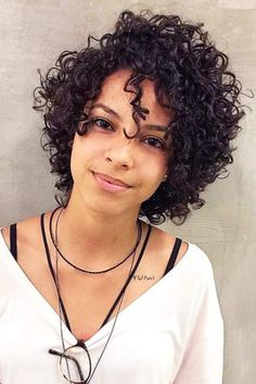 30 Fancy Ideas To Style Short Curly Hair Short Curly Hairstyle For Black Hai - Coiffure Sites Black Curly Hair, Curly Hair Cuts, Curly Girl, Short Hair Cuts, Curly Hair Styles, Natural Hair Styles, Thick Hair, Straight Hair, Kinky Curly Hair