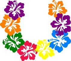 hawaiian flower clip art tropical plants clip art vector clip art rh pinterest com hawaiian flower clipart black and white hawaiian flower clipart black and white