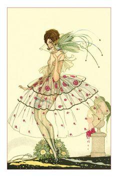 illustration.....woman..sheer skirt