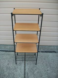 Longaberger Wrought Iron 5 Tier Tiered Level Stand W4 Woodcraft Shelves Foundry