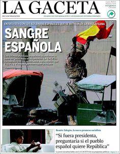 Los Titulares y Portadas de Noticias Destacadas Españolas del 30 de Septiembre de 2013 del Diario La Gaceta ¿Que le pareció esta Portada de este Diario Español?