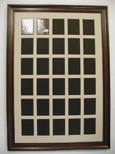 NEW! 30 HOLE BASEBALL CARD DISPLAY FRAME AND MAT -horizontal or vertical-WOODEN