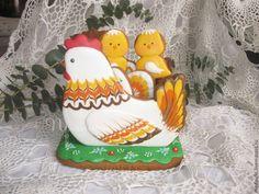 Купить Пряничная шкатулка Пасхальная Курочка - разноцветный, пряник расписной, пряник 3d, пасхальная курочка