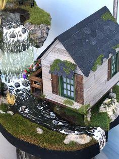 Fairy House Crafts, Fairy Garden Houses, Fairy Gardens, Fairies Garden, Clay Fairies, Panda Tree, Ho Scale Train Layout, Cool Fish Tanks, Autumn Fairy