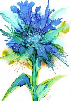 Fine Art Giclée print from my original alcohol ink painting. Splashes of vibrant turquoise and blues. Super high quality print using archival inks on acid free matt paper. Packed securely for shipping. Print sizes available; Alcohol Ink Tiles, Alcohol Ink Crafts, Alcohol Ink Painting, Watercolor And Ink, Watercolor Flowers, Watercolor Paintings, Painting Art, Ink Paintings, Watercolors
