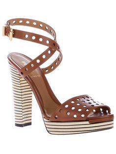 FENDI - perforated platform sandal 5