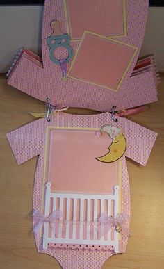 baby scrapbook onsie   (She has a great site!)
