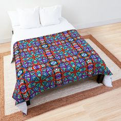 'Stained Glass on Speed' Comforter by Arrowsmith Design