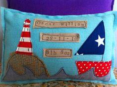 Nautical Keepsake Cushion