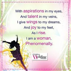 Her ambitions never fade! Celebrating the #Glory of #Womanhood!