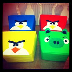 Angry bird storage boxes