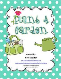 This freebie contains a cut and paste sheet for plant parts, a cut and paste for plant needs, two garden/plant picture dictionary pages and a writing page.
