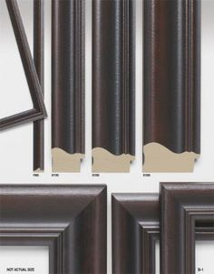 New rich wood tones from the Avant Collection from Studio Moulding available at Karen's Detail Custom Frames, Orange County, CA http://www.karenscustomframes.com