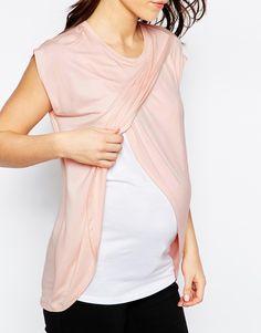 Image 3 - ASOS Maternité - Top d'allaitement avec superposition croisée et manches courtes
