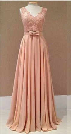 2017 New Style Prom Dress Blush Pink Chiffon Evening Gowns Cute Prom Dresses, Long Bridesmaid Dresses, Lovely Dresses, Homecoming Dresses, Sexy Dresses, Party Dresses, Chiffon Evening Dresses, Chiffon Dress, Evening Gowns