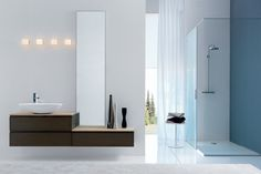 Mueble de lavabo moderno / de pared GOLA.14 ARCHEDA Industrial Bathroom, Modern Bathroom Design, Bathroom Ideas, Shower Ideas, Bath Room, Mirror, Interior Design, Feels, House