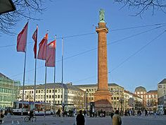 Luisenplatz (old Long Louie as we called the statue) in Darmstadt (W) Germany.  I lived there Jan 85- Oct 87