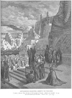 Artaxerxes Granting Liberty to the Jews, Gustave Doré (1832-1883)