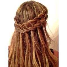 waterfall 4 strand braid | ... include: fourstrand braid, hair, long hair, plaits and waterfall braid