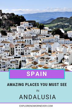Stunning spots in southern spain you must see to believe! this is a detailed travel guide + map for two weeks in andalusia…what to see and where to stay in Europe Destinations, Europe Travel Guide, Spain Travel, Travel Guides, Spain Places To Visit, Cool Places To Visit, Beautiful Places To Travel, Spain And Portugal, France