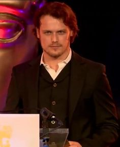 Yet another picture of Sam Heughan at Scottish Baftas