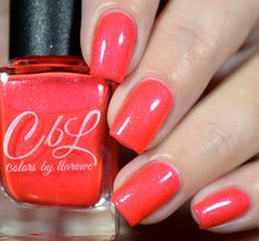 CbL The Journey Collection 2016 - Ray Of Sunshine - a neon orange coral with intense pink to copper to gold shimmer. This polish will dry semi matte. Add top coat to intensify shimmer. Swatch by @shannasnailadventures on Instagram.