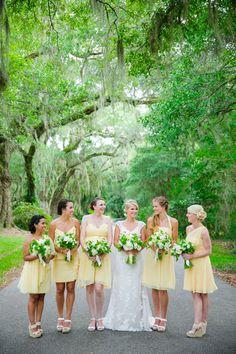 yellow bridesmaid dresses | Dana Cubbage