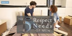 Do the words respect husband go together at your house? Here are the 5 Respect Needs of Men and why they really need respect.