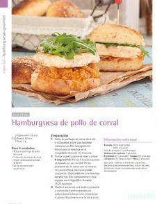 Hamburguesa de pollo de corral